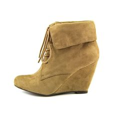 Nine West faux suede booties Lightly used. Have a few marks. Look great with everything! Nine West Shoes Ankle Boots & Booties