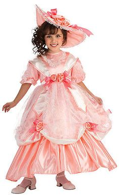 Child Small Georgia Peach Girls Costume - Southern Belle Costumes