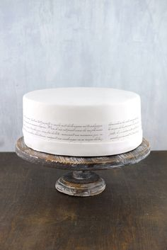 Rustic Wood Cake Stand |&nbsp4 x 12in  two for the individual cakes