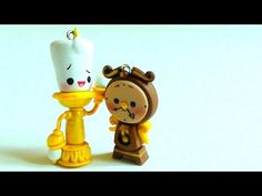 Lumiere & Cogsworth From Beauty and the Beast Tutorial (Polymer Clay) - YouTube