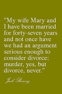 I made the decision to get married. My believes are divorce is not an option, there is no plan B.