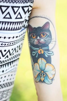 Cat tattoo  Afternoon with friends