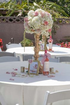 Pink and Gold Baptism Party Ideas | Photo 2 of 51 | Catch My Party