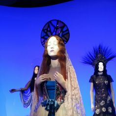 The Fashion World of Jean Paul Gaultier, a lot of mannequins had faces projected on them, and were singing Catholic songs
