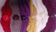 handknit infinity scarf, loop scarf, circle neckwear, neckwarmer, neck wrap, eternity neckwrap, infinicowl, buttonned neckwear, winter gift Purple Scarves, Loop Scarf, Neck Wrap, Winter Accessories, Neck Scarves, Neck Warmer, Womens Scarves, Hand Knitting, Infinity