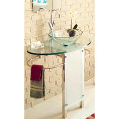 @Overstock - This bathroom vanity by Kokols comes with a faucet, P-trap, drain, sink, towel bar and stainless pedestal. This sleek vanity makes a great addition to your bathroom remodel.http://www.overstock.com/Home-Garden/Kokols-30-inch-Vessel-Sink-Pedestal-Bathroom-Vanity/5952118/product.html?CID=214117 $239.99
