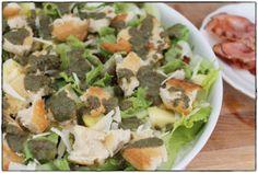 ginger in the basement.: Salatvariationen für den Sommer. Eine Art Ceasar's Salad