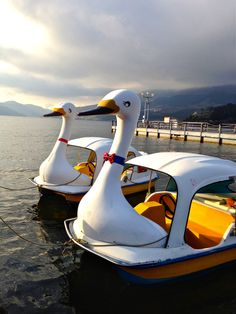 Swan Boat at Lake Ashi (Hakone, Japan)