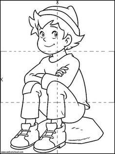 Maestra de Infantil: Heidi y Pedro. Dibujos para colorear