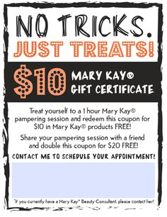 Mary Kay® Halloween coupons