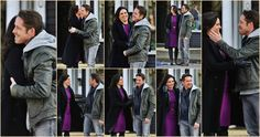 Lana & Sean being all cute & stuff while having some fun on set - April 1, 2015 <3 <3 #OutlawQueen (Click for larger image)