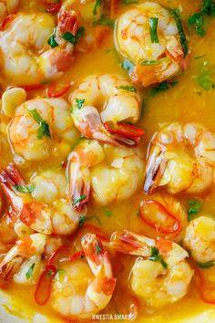 Krewetki po tak sky w sosie pomarańczowym Thai Recipes, Fish Recipes, Seafood Recipes, Asian Recipes, Cooking Recipes, Healthy Recipes, Good Food, Yummy Food, Healthiest Seafood