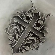 Resultado de imagem para cross tattoo drawings in pencil Tattoo Sketches, Tattoo Drawings, Body Art Tattoos, New Tattoos, Sleeve Tattoos, Tattoos For Guys, Jesus Tattoo, Filigree Tattoo, Sternum Tattoo