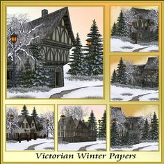 Victorian Winter Backgrounds by Christine Hart Victorian Winter Backgrounds a lovely collection of 6 Victorian themed backgrounds for all your beautiful design needs