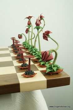 Origami Bonsai Chess Set V.