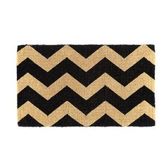 New for Spring: Chevron Stripe Coir Mat by Ballard Designs