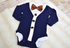 Cardigan with bow tie - navy/white/tan by SydneyBelleBoutique on Etsy