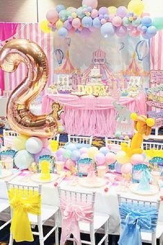 Check out this amazing pink circus birthday party! The table settings are gorgeous! See more party ideas and share yours at CatchMyParty.com #catchmyparty #partyideas #pinkcircus #pinkcircusparty #girlbirthdayparty #circus #circusparty #tablesettings Girls Birthday Party Themes, Circus Birthday, Girl Birthday, Birthday Parties, Carnival Party Foods, Circus Carnival Party, Circus Cakes, The Balloon, For Your Party