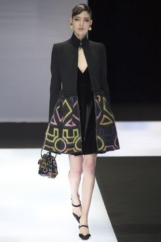 Emporio Armani Fall 2016 Ready-to-Wear Fashion Show - Georgiana Zloteanu