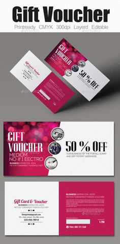 Multi Use Business Gift Voucher Template #design Download: http://graphicriver.net/item/multi-use-business-gift-voucher/12311743?ref=ksioks