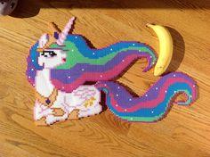 MLP Princess Celestia Perler beads by OddishPonyGirl