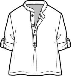 Tunic_blouse Fashion Sketch Template, Fashion Design Template, Fashion Templates, Flat Drawings, Flat Sketches, Technical Drawings, Fashion Design Portfolio, Fashion Design Sketches, Clothing Sketches