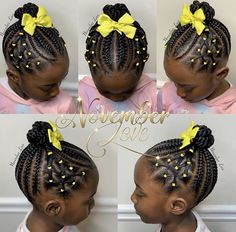 Braids for Kids - 100 Braided Hairstyles for Kids A selection of over 100 different braided hairstyl Little Girl Braid Hairstyles, Toddler Braided Hairstyles, Little Girl Braids, Cute Hairstyles For Kids, Baby Girl Hairstyles, Braids For Kids, Kids Braids With Beads, Big Braids, Girl Haircuts