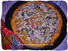 Οι λιχουδιές της Μαριφάνης: Γρήγορη πίτσα καρμπονάρα (πίτσα χωρίς μαγιά)