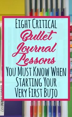 So, you're starting your very first bullet journal! It is an exciting time, but scary when you don't know what to expect or what's normal. I want to share the 8 lessons I learned from my first bullet journal to make your life easier. Get amazing tips, ins