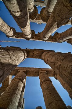 The great hypostyle hall in Karnak temple- Luxor - Egypt … Egyptian Temple, Ancient Egyptian Art, Ancient Ruins, Ancient History, Luxor Temple, Temple Ruins, Egyptian Mythology, Egyptian Goddess, European History