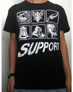 League of Legends support t shirt lol game-