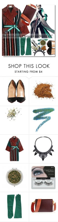 """""""Serious Coat Check"""" by konata-phenomenalstyle ❤ liked on Polyvore featuring Christian Louboutin, Topshop, Manic Panic, Fendi, Ardell, Dsquared2, Marni, Pumps, handbag and gloves"""