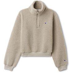 Flow Sherpa Turtleneck  - Beige - Hoodies & sweatshirts - Weekday ($155) ❤ liked on Polyvore featuring tops, hoodies, sweatshirts, sherpa hoodies, zipper hoodie, sherpa zip hoodie, zip hooded sweatshirt and sherpa hoodie