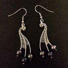 Handmade wire wrapped web earrings by KCMillnerDesigns on Etsy