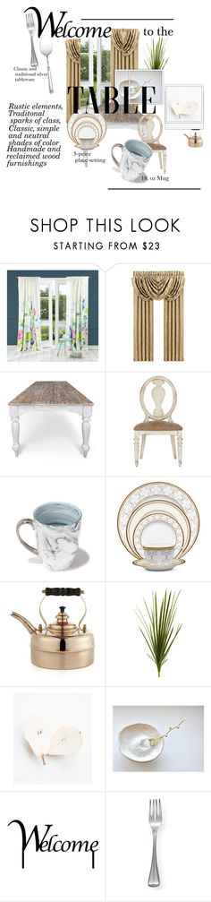 """""""Classic Traditional Dining"""" by bexyboo777 ❤ liked on Polyvore featuring interior, interiors, interior design, home, home decor, interior decorating, Bluebellgray, J. Queen New York, Jordan Carlyle and Noritake"""