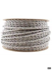SILVER | fabric lighting flex cable | TWIST  sc 1 st  Pinterest & Image of BLACK WHITE STRIPE | fabric lighting flex cable | ROUND ...