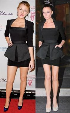 Both Blake Lively and Victoria Beckham wore this little black dress designed by none other than Posh Spice herself, but we want to know...who wore it better?