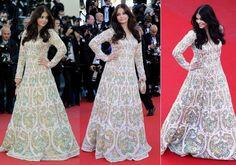 Aishwarya Rai In Abu Jani & Sandeep Khosla Gown At Cannes Film Festival 2013