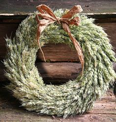 Harvest wreath made of wheat
