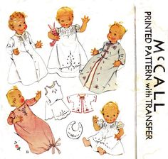 1930s Vintage Baby Layette Sewing Pattern McCall 537 via Etsy