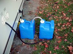 Gray water disposal.......nice ideas in this blog......which is geared toward pop up campers