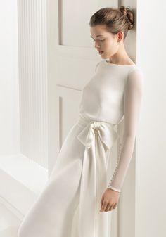 Die meisten neuen Stil Mode schlicht und elegant Fisch #Schwanz schlanker #Taille kleinen# Schwanz #Hochzeit #Kleid Langarm #Rosa #Clara bis 2015.