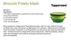 Broccoli Potato Mash / Tupperware  SmartSteamer
