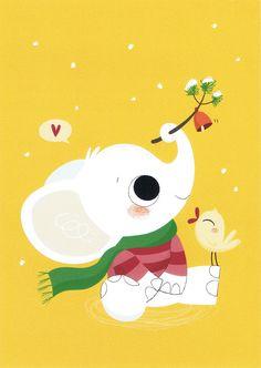 Children illustrations of animals Elephant Illustration, Cute Animal Illustration, Children's Book Illustration, Elephant Love, Elephant Art, Kawaii, Alfabeto Animal, Animal Quilts, Nursery Art