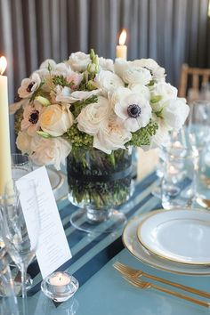 Anemone centerpiece | Photo by Mikkel Paige | Floral design by Flowers by Ivona