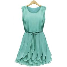 Slim Fit Fluid Flounced mini, in gorgeous mint~~ Classic, Feminine appeal