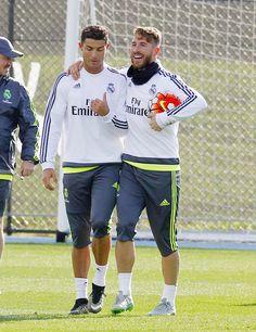 Cristiano & Sergio during training | July 16, 2015