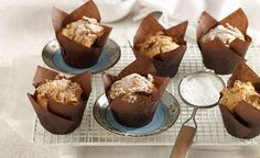 Why we love apple and walnut muffins 1. Packed with fibre. 2. Tasty, healthy and nutritious. 3. Ideal for lunchboxes. Get more sensational recipes in smooth food.  Ingredients 1 cup self-raising flour, sifted 1/3 cup brown sugar 1/2 tsp ground cinnamon 1 large green apple, peeled and grated 1/4 cup chopped walnuts, plus 1 tbsp for topping 3/4 cup Sanitarium FibreStart 1/4 cup vegetable oil 1 egg, lightly beaten Icing sugar, to serve  Directions 1. Preheat your oven to 200 degrees C and…