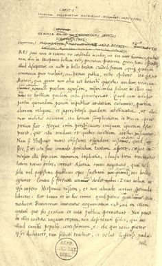 Page written in Grotius' hand from the manuscript of De Indis (circa 1604/05)  In The Free Sea (Mare Liberum, published 1609) Grotius formulated the new principle that the sea was international territory and all nations were free to use it for seafaring trade. Grotius, by claiming 'free seas' (Freedom of the seas), provided suitable ideological justification for the Dutch breaking up of various trade monopolies through its formidable naval power (and then establishing its own monopoly).