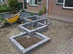 Ziegel ein Material das im Bauwesen aber auch bei Brick is a material that is also used in construct Front Yard Patio, Front Yard Landscaping, Patio Dining, Front Porches, Backyard Patio, Landscaping Ideas, Backyard Ideas, Small Gardens, Outdoor Gardens